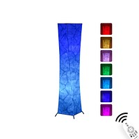 Floor Lamp, CHIPHY Standing Lamp, 7 Colors Changing LED Bulbs and 10 Levels Brightness and Color Temperature, Remote Control and Fabric Shade, Modern for Bedroom, Kids Room and Play Room Black XS