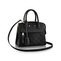 Authentic Louis Vuitton Empreinte Leather Pont-Neuf Mini Tote Cross Body Handbag Article: M41743 Noir