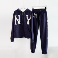 GUCCI sweatshirt with NY Yankees™ patch + jogging pant with NY Yankees™ patch