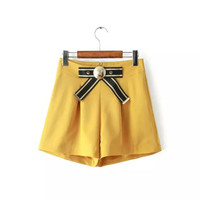 Summer Women's Fashion High Rise Butterfly Decoration Casual Pants Slim Shorts [4917834948]