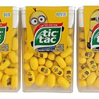 Limited Edition Minions Tic Tac Value 3-Pack: Stuart, Kevin & Bob