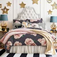 The Emily & Meritt Gold Dot Quilt + Sham