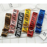 FENDI Hot Sale Poplar Women Men Personality Canvas Belt Waist Belt