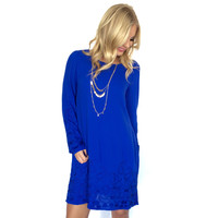 Perfectionist Shift Dress In Royal Blue