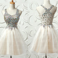Beading Chiffon Homecoming Dress