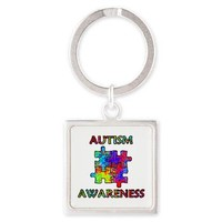 Autism Awareness Colorful Puzzle Pieces Keychains> Autism Awareness> Jan4insight Designs