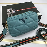 Prada Women Leather Shoulder Bags Satchel Tote Bag Handbag Shopping Leather Tote Crossbody Satchel 817