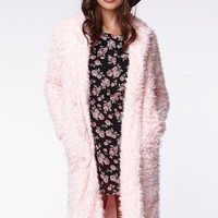 Lucca Couture Pink Trench Coat - Womens Jacket - Pink