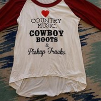 Country Girl Top - White/Wine