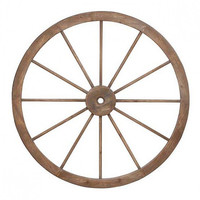 Weathered Wood Wagon Wheel
