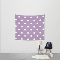 Polka Dot Hanging Tapestry - Wall Tapestry -  Large Wall Hanging - Pink Polka Dots - Tapestry Decor - Made to Order
