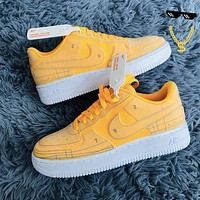 Nike Air Force 1 AF1 Deconstructed graphics Shoes Flat Shoes Yellow