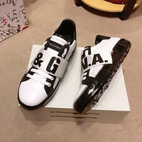 DG Dolce & Gabbana Mens White yellow black Fashionable Casual LOW Top Monogram Casual Breathable   Leisure Sports Shoes Sneakers Shoes Flat Shoe best quality