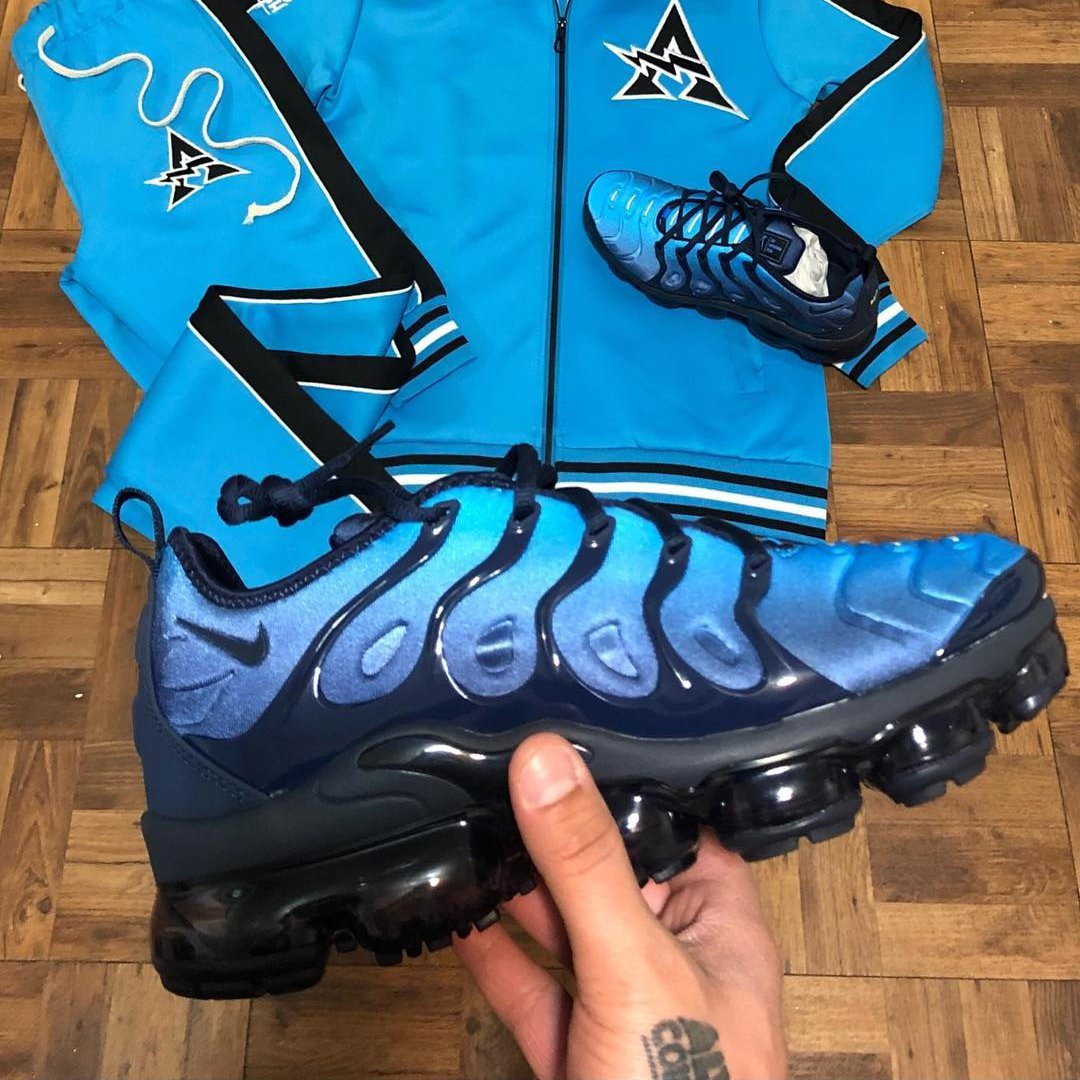 Image of Nike Air VaporMax Plus Photo Blue Basketball Shoes Sneakers