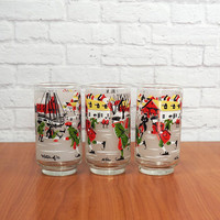 LIBBEY Winter of 76 Beverage Glasses, Designer Signature Collection by M.D'ia