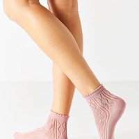 Open Work Scalloped Trouser Sock - Urban Outfitters
