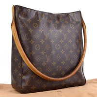 Auth [Good]LOUIS VUITTON Looping GM M51145 Shoulder Bag Women's w/Bag(Used)55128