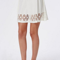 Mini Skater Skirt with Cut Out Bottom