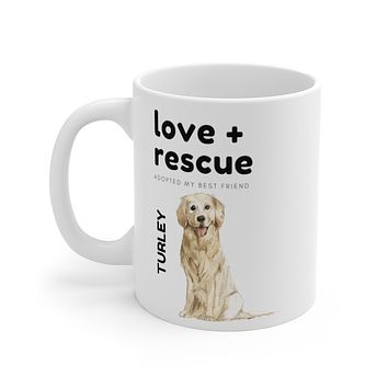 love + rescue Mug — Golden Retriever