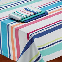 Beach Stripes Table Linens