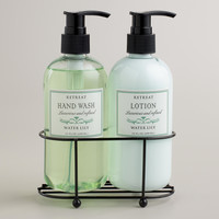 Retreat Water Lily Liquid Soap and Lotion Caddy - World Market