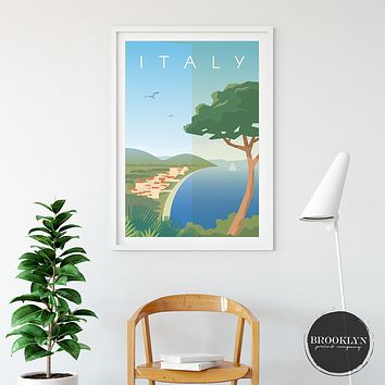 Italy Landscape City Art Travel Poster