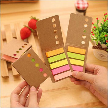 1pcs lot Rainbow diary sticker post it bookmarker note Folding memo pad sticky notes Office accessories School supplies