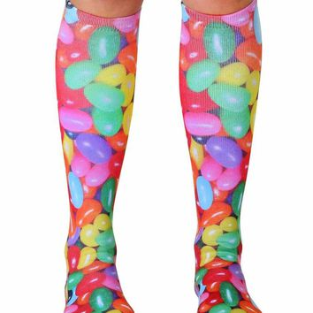 Jelly Beans Knee High Socks