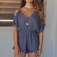 Carrington Point Midnight Cold Shoulder Romper