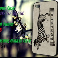 daschund bonjour iPhone 4 4S 5 5S 5C , iPod Touch 4 5 and Samsung Galaxy S3 S4 Case