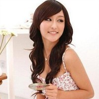 Cool2day® 70cm Long Fashion Girl's Curly Hair Side Bangs Party Wig (Model: Jf010015) (Dark Brown)