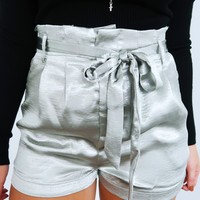 Notice Me Shorts: Silver
