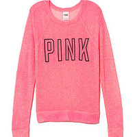 Sheer Knit Sweater - PINK - Victoria's Secret