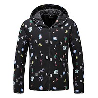 FENDI Fashion Men Women Casual Print Cardigan Jacket Coat