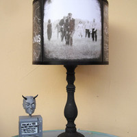 Zombie Apocalypse lamp shade lampshade - The Walking Dead, lighting, halloween decor, dark art, zombies, horror, Spooky Shades, walkers