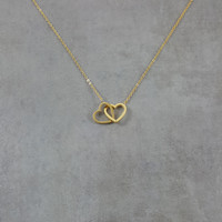 Heart Double Gold Necklace