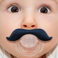 New Funny Mustache Baby Boy Girl Infant Pacifier Orthodontic Dummy Beard Nipples = 1706375620