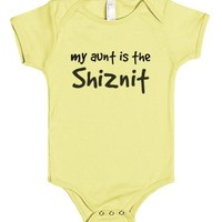 My Aunt is the Shiznit!-Unisex Lemon Baby Onesuit 00