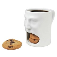 White Face Coffee Mug