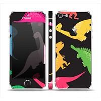 The Vector Neon Dinosaur Skin Set for the Apple iPhone 5