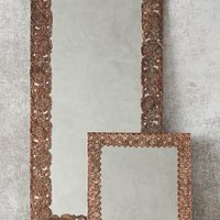 Gilded Lace Mirror by Anthropologie in Antique Copper Size: