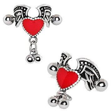 Antique Winged Heart Cartilage Cuff Earring