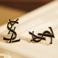 YSL New fashion women letter earring accessories