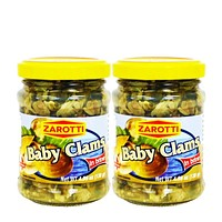 2 Pack Zarotti Baby Clams, 4.59 oz (130g)