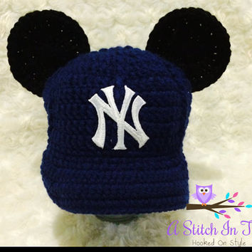 New York Yankees Mickey Mouse Inspired Baseball Cap, Hat, and Beanie