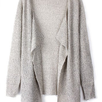 'The Jimena' Gray Knitted Cardigan
