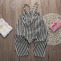 Spaghetti Striped Romper