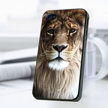 Lion Face Print iPhone 4 Or 4S Case