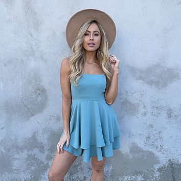 Cheers To That Skater Dress in Sage