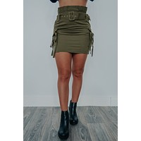 Lead The Way Skirt: Olive